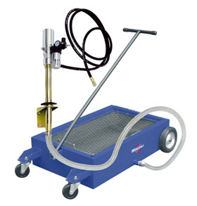 Mobile drainer 50L capacity with pump kit